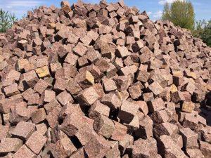 rot-granitpflaster